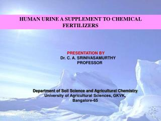 PRESENTATION BY     Dr. C. A. SRINIVASAMURTHY        PROFESSOR