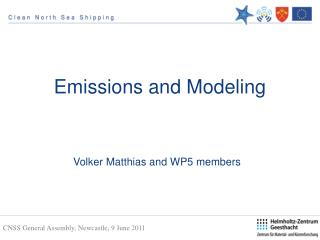Emissions and Modeling