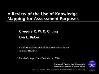A Review of the Use of Knowledge Mapping for Assessment Purposes