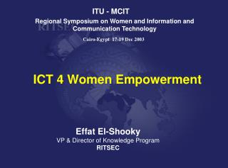 Regional Symposium on Women and Information and Communication Technology