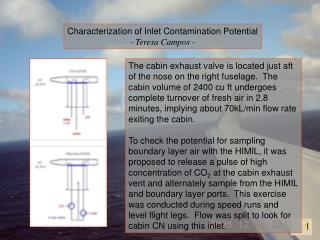 Characterization of Inlet Contamination Potential - Teresa Campos -