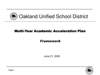 Multi-Year Academic Acceleration Plan Framework