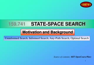159.741     STATE-SPACE SEARCH
