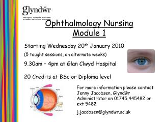 Starting Wednesday 20 th  January 2010 (5 taught sessions, on alternate weeks)
