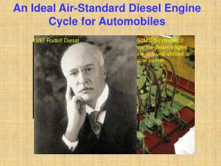 An Ideal Air-Standard Diesel Engine Cycle for Automobiles