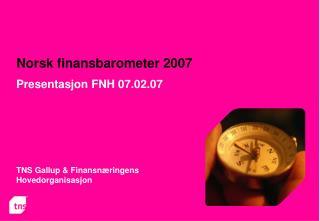Norsk finansbarometer 2007