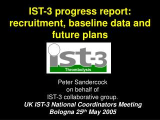 IST-3 progress report: recruitment, baseline data and future plans