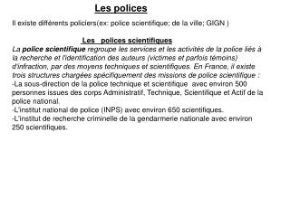 Les  polices