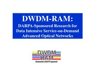 DWDM-RAM: DARPA-Sponsored Research for Data Intensive Service-on-Demand  Advanced Optical Networks