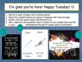 I'm glad you're here! Happy Tuesday!  