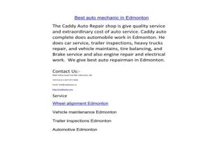 Best auto mechanic in edmonton