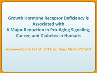Growth  Hormone  Receptor Deficiency is Associated with