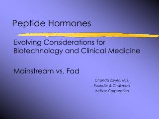 Peptide Hormones