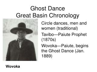 Ghost Dance Great Basin Chronology