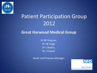 Patient Participation Group 2012
