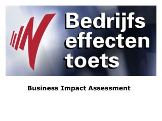Business Impact Assessment