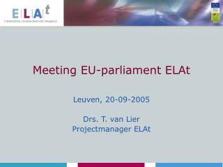 Meeting EU-parliament ELAt