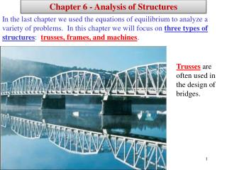 Chapter 6 - Analysis of Structures
