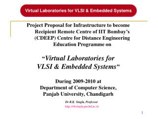 Virtual Laboratories for VLSI & Embedded Systems