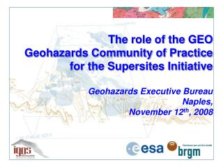 Role of the  GEO Geohazards Community of Practice