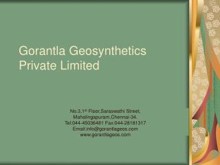 Gorantla Geosynthetics Private Limited