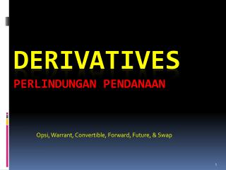 DERIVATIVES Perlindungan Pendanaan