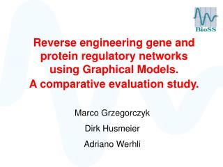 Reverse engineering gene and protein regulatory networks using Graphical Models.