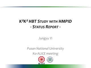 K ± K ±  HBT Study with HMPID - Status Report -