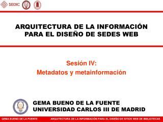 ARQUITECTURA DE LA INFORMACIÓN PARA EL DISEÑO DE SEDES WEB