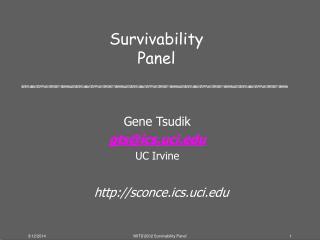 Survivability Panel