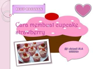 cara membuat cupcake strawberry