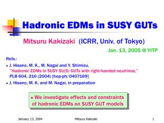 Hadronic EDMs in SUSY GUTs