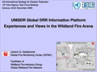 UN  International Strategy for Disaster Reduction   12 th Inter-Agency Task Force Meeting