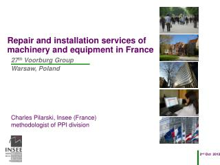 Repair and installation services of machinery and equipment in France