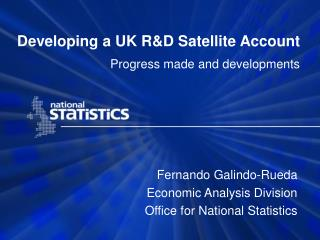 Developing a UK R&D Satellite Account