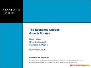 The Economic Outlook:  Growth Rotates