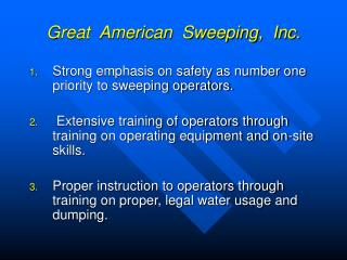 Great  American  Sweeping,  Inc.
