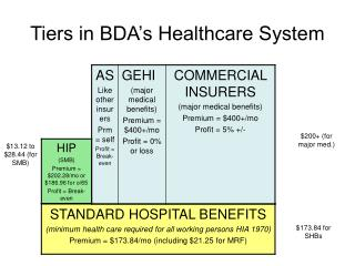 Tiers in BDA's Healthcare System