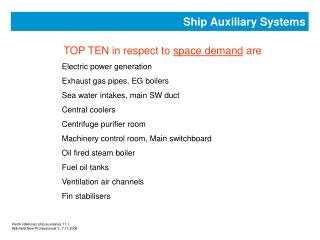 Ship Auxiliary Systems