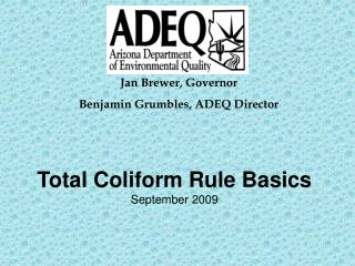 Total Coliform Rule Basics September 2009