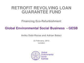 RETROFIT R EVOLVING  LOAN  GUARANTEE FUND Financing Eco-Refurbishment
