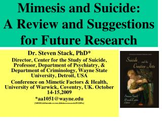 Mimesis and Suicide:  A Review and Suggestions for Future Research