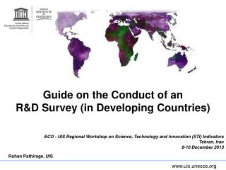 Guide on the Conduct of an R&D Survey (in Developing Countries)