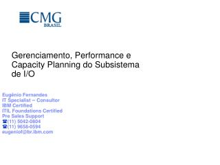 Gerenciamento, Performance e Capacity Planning do Subsistema de I/O