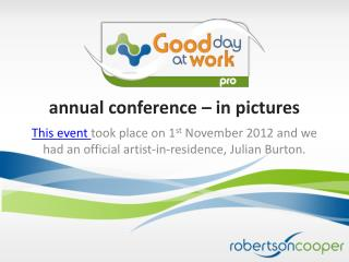 annual conference – in pictures