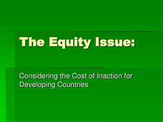 The Equity Issue: