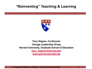 """Reinventing"" Teaching & Learning"
