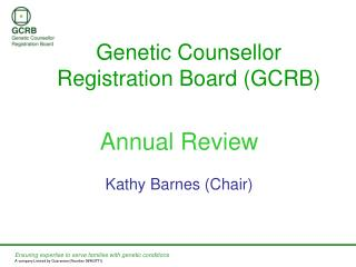 Genetic Counsellor Registration Board (GCRB)