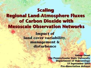 Scaling Regional Land-Atmosphere Fluxes  of Carbon Dioxide with  Mesoscale Observation Networks