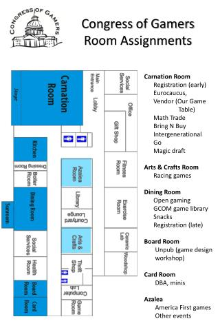 Congress of Gamers Room Assignments